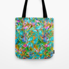Floral Abstract Stained Glass G265 Tote Bag
