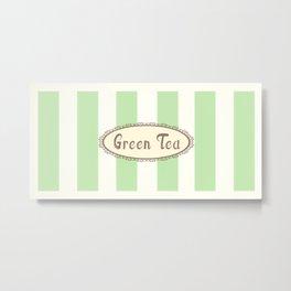Green Tea Antique Metal Print