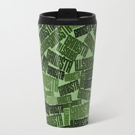 GANGSTA jungle camo / Green camouflage pattern with GANGSTA slogan Travel Mug