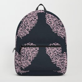 small harts arabic letters pink Backpack