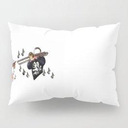 Trio, musicians abstract trombone, saxophone , guitar Pillow Sham