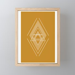 Expanse - Yellow Framed Mini Art Print