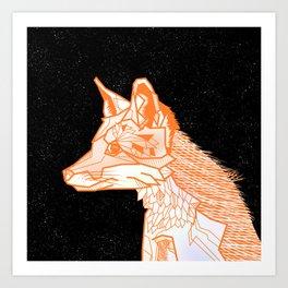 Fox geometric Art Print
