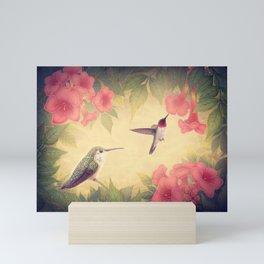 Ruby-throated Hummingbirds Mini Art Print