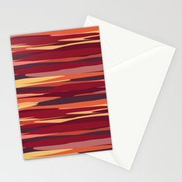 Camouflage Stripes Stationery Cards