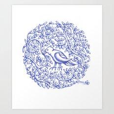 Round Bird 23.1.2017 Art Print