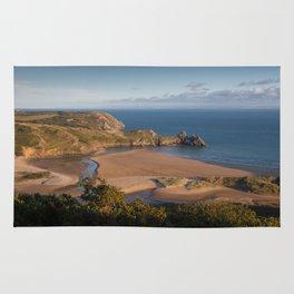 Three Cliffs Bay Gower Rug