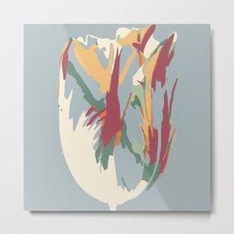Abstract Artistic Tulip Metal Print