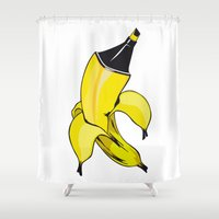 banana Shower Curtains featuring Banana  by Gaby Yerden