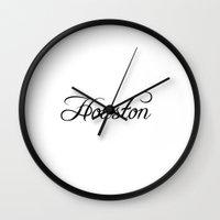 houston Wall Clocks featuring Houston by Blocks & Boroughs