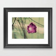 Curling in Purple Framed Art Print