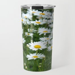 White Daisy Field Travel Mug
