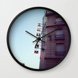 le signe de l'hôtel Wall Clock