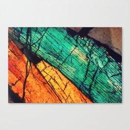 Epidote and Quartz Canvas Print