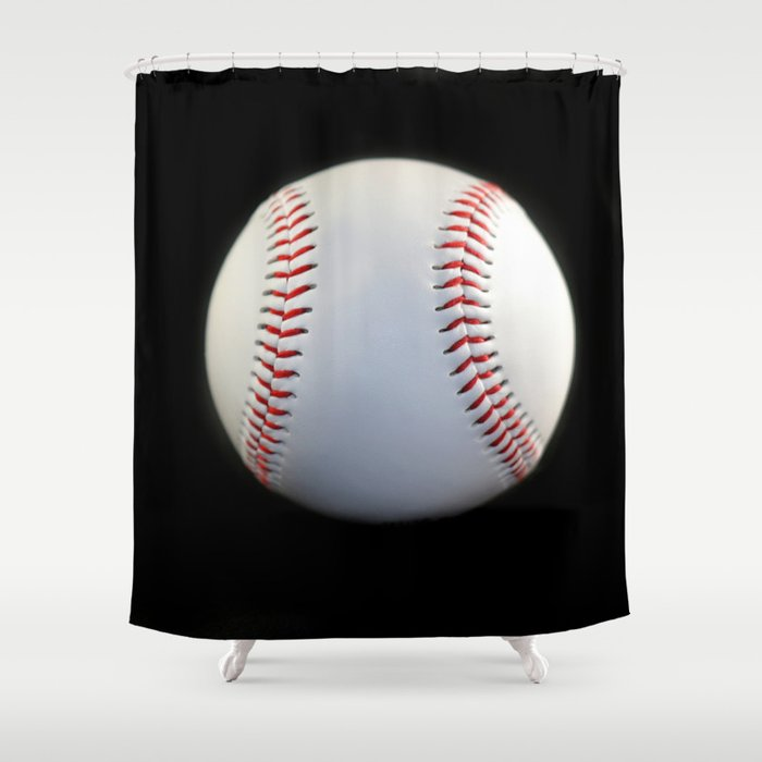 Baseball Shower Curtain By Hlehnerer