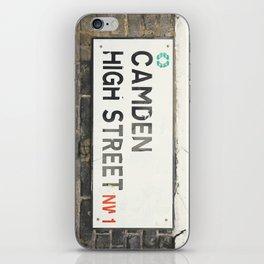 Camden High Street Sign iPhone Skin