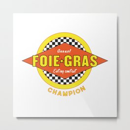 Foie Gras (Extravagant Eating Competitions) Metal Print