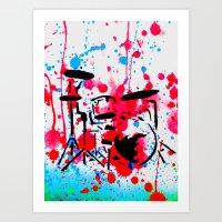 Bang the Drums Art Print