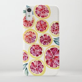Sliced Grapefruits Watercolor iPhone Case