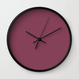JUNEBERRY burgundy solid color Wall Clock