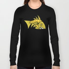 Escher Fish Pattern V Long Sleeve T-shirt