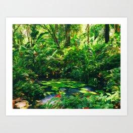 Water lilies Claude Monet style Art Print
