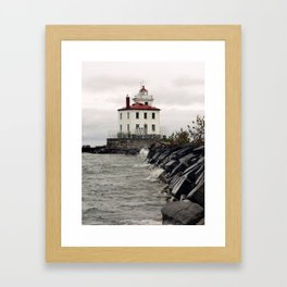 The Breakers Roar on an Unseen Shore  Framed Art Print