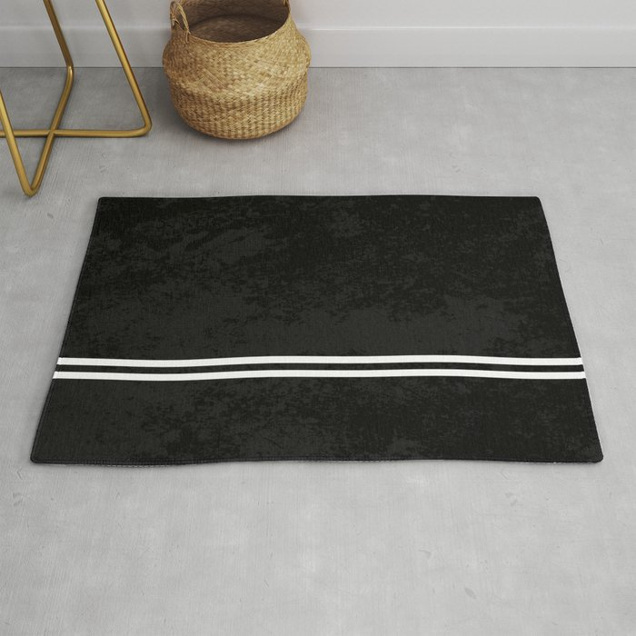 Infinite Road Black And White Abstract Rug By Printpix