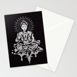 Buddha in lotus position Stationery Cards