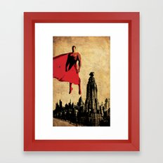 Superman justice league Framed Art Print