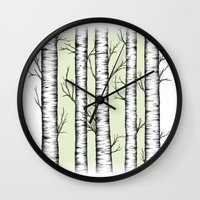 wonderland Wall Clocks featuring Wonderland by Barlena