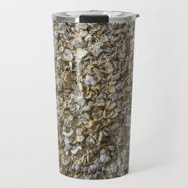 Top view shot of Oatmeal texture. Travel Mug