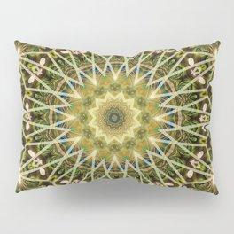 Geometric Forest Mandala Pillow Sham