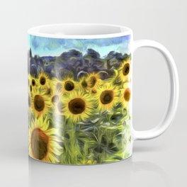 Sunflower Field Vincent Van Goth Coffee Mug