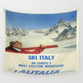 Vintage poster - Ski Italy Wall Tapestry