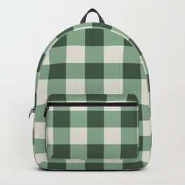 Hunter Green Buffalo Check Backpack