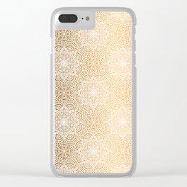 Gold Mandala 18 Clear iPhone Case