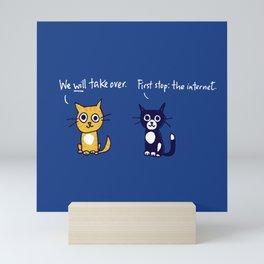 Cats and the internet Mini Art Print