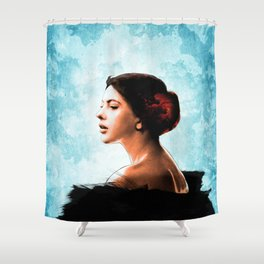 Forlorn Looking Shower Curtain