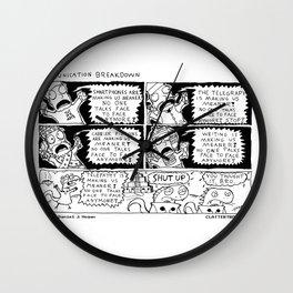 Communication Breakdown Wall Clock