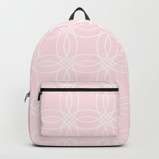 Simply Vintage Link White on Pink Flamingo Backpack