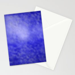 Neon Blue Metallic Foil Stationery Cards