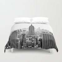 city Duvet Covers featuring New York City by Studio Laura Campanella
