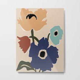 poppy flower market  Metal Print