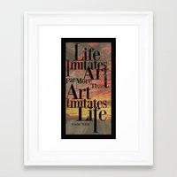oscar wilde Framed Art Prints featuring Oscar Wilde by Trevor Seymour