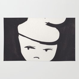 Catty Does Not Approve   | 181218 Faces Watercolour Kawaii Rug