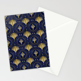 Art Deco Blue And Gold Luxury Stationery Cards