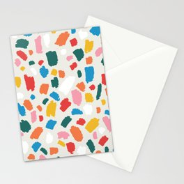 Colorful Abstract Shapes - Brush Strokes Modern Minimalist Fun Playful decor Orange Yellow Blue Pink Green White Red Stationery Cards