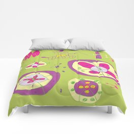 Flower Planets Comforters