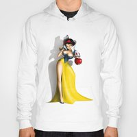 snow white Hoodies featuring Snow White by Greg-guillemin